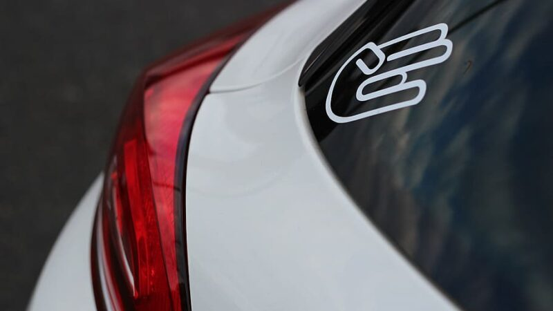 A comparison of Front Facing and Back Facing Adhesive Car stickers